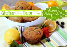 Let the sunshine in with these Springtime Lemon-Berry Muffins from @CookAllergy Free! March #muffinmadness