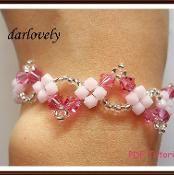 Pink Wavy Bracelet (BB080) - via @Craftsy