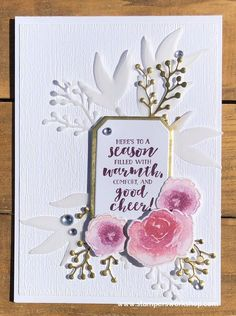 A super pretty card (and pretty simple card top) using the First Frost stamp set and die set from Stampin' Up! Christmas Cards To Make, Christmas Crafts, Xmas Cards, Stamping Up Cards, Winter Cards, Pop Up Cards, Pretty Cards, Paper Cards, Creative Cards
