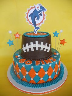 26 Best Miami Dolphins Cake images in 2016 | Miami dolphins cake ...