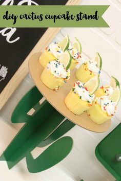 Everyday Party Magazine DIY Cactus Cupcake Stand #Cricut #CricutMaker #CricutKnifeBlade #DIY #CincodeMayo