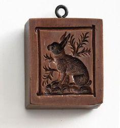 """Watchful Rabbit"" ~ Springerle Cookie Mold"