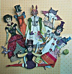 Paper dolls created by Lisa Super.  Fabulous.