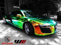 Audi Hologram Vinyl Full Wrap   #tomsstickers #audi #hologramvinylwrap #carwrap #vehiclewrap #audir8 #stickershop #kualalumpur