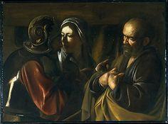 The Denial of Saint Peter Caravaggio (Michelangelo Merisi) (Italian, Milan or Caravaggio 1571–1610 Porto Ercole) 1610
