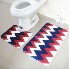 2pcs/set Non Slip Bathroom Bath Mat 100% Polyester Bath Mats And Toliet Rugs 37*45+45*75cm Water Absorption Carpet