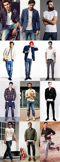 Men's Jeans and White T-Shirt Combinations Outfit Inspiration Lookbook