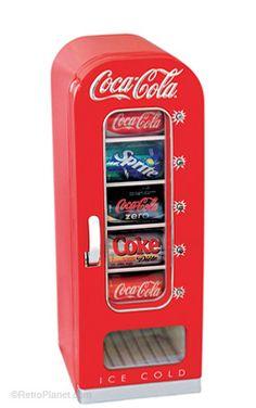 BTS Vending Machine Retro Coke Fridge, such a cute dorm room addition! #momselect #backtoschool (8)