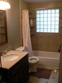 good idea for a small bathroom remodel with a window