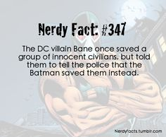Wow. I didn't know Bane could actually be kind