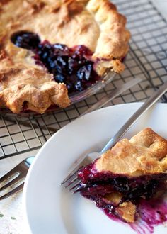 Concord Grape Pie | SAVEUR. This recipe comes from the so-called Grape Pie Queen of Naples, New York, Irene Bouchard. She started baking these sweet pies in the early '70's. (I'd probably try a different pie crust recipe, since 18 TBSPS of butter seems a bit over the top. Perhaps a misprint?)