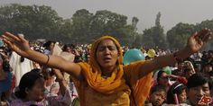 Nepalese Christians participate in a mass prayer in the open as they celebrate Easter Sunday in Katmandu, Nepal, Sunday, April 4, 2010