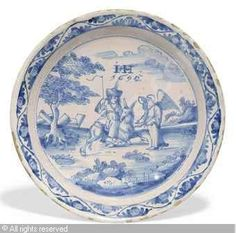 DELFT - BLUE AND WHITE PLATE