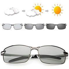 d0d8d79346 OSVAW Gafas de sol polarizadas fotocromáticas para hombre protección UVB  100% UVA con marco de