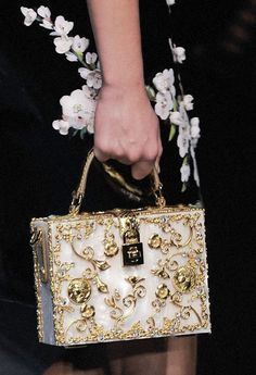 that Dolce and Gabbana Haute Couture bag is just about the right size for your ipad, phone and wallet :p