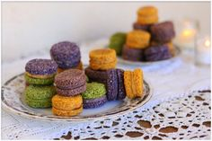 Colorful Raw Macarons. For the Matcha Macarons    1 1/2 cup unsweetened shredded coconut    1/2 tablespoon matcha powder    2 tablespoons coconut oil    1/4 cup raw agave syrup    1/2 tablespoon vanilla extract
