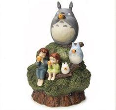 Studio-Ghibli-My-neighbor-Totoro-kusunoki-figure-Music-box-Porcelain-JAPAN