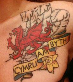... tattoo #Cymruambyth #Walesforever #reddragon | Tattoo's | Pinterest