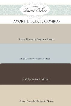 Favorite Paint Color - website designed to let you see what paint colors look like in a home. Pictures from other blogs and home owners