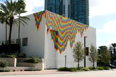 Acid Free / Jen Stark / Mural on the Museum of Art Fort Lauderdale / 2011