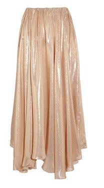 Metallic silk-blend circle skirt by Vionnet