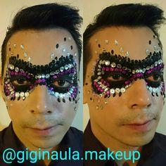 Maquillaje de Fantasía para mi amigo Jonatan Avila Villavicencio @pablix6 ::Antifaz::  Con Aquacolor de @kryolanofficial @kryolanecuador, Lenguajelas y Cristales  #giginaulamakeup #antifaz #mask #halloween #halloweencostume #kryolan #kryolanhalloween #aquacolor #lentejuelas #cristales #makeupecuador #maquillajeecuador #maquillajeprofesional #fantasy #maquillajedefantasia #makeupartistsworldwide #makeupandmakeup #makeuplover #makeup #lovemyjob