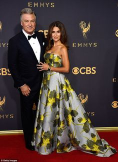 Alec Baldwin, 59, looked proud to be standing alongside his gorgeous wife Hilaria, 33, on the red carpet before taking home Outstanding Supporting Actor in a Comedy
