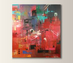 ARTFINDER: 'Time Square' by Dan Nash Gottfried - Original acrylic, abstract painting created on custom stretched canvas.