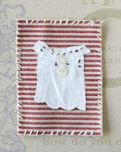 Stitched and embroidered mini textile art My by ColetteCopeland, $10.50