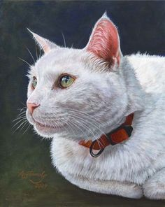 Open Edition Print of White Cat Painting by Akiko Watanabe. I have a couple of Akiko's prints and they are fabulous. Just amazing!