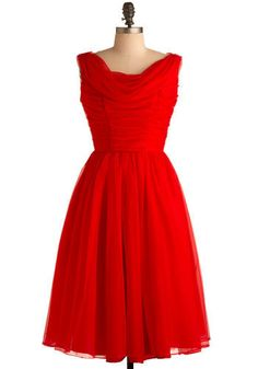 Vintage Made for Memories Dress, #ModCloth - don't really like the deep V back, or the $114.99 price, but otherwise this would be perfect for bridesmaid's dresses!