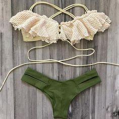 "Item Type: BikiniMaterial: PolyurethanePattern: Solid ColorWaist: Low-WaistStyle: FashionColor: Photo ColorSize:XS (US size) Bust: 31-33"", Waist: 23-25"", Hips:"