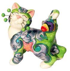 So cute - whimsiclay cat - love it