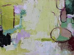 """Abstract Artists International: Contemporary Abstract Painting,Expressionism Art """"Meadow Whisper I"""" by Abstract Artist Nijole Rasmussen"""
