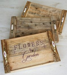 Wooden Crafts, Diy Wood Projects, Wooden Diy, Woodworking Projects, Diy And Crafts, Arte Pallet, Pallet Art, Palette Deco, Bois Diy