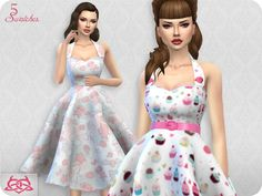 Sarah dress RECOLOR 3 by Colores Urbanos at TSR • Sims 4 Updates