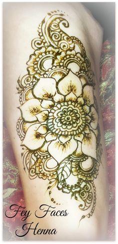 Large henna design
