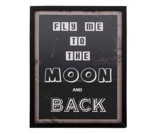 Quadro con cornice in resina e vetro Moon - 30x40x2 cm | Dalani Home & Living