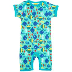 Fish summer suit for babies and toddlers made by Duns Sweden