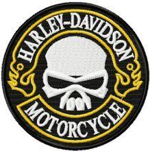 Harley Davidson round patch