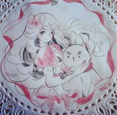 Daily Doily: Bee and Puppycat by draa