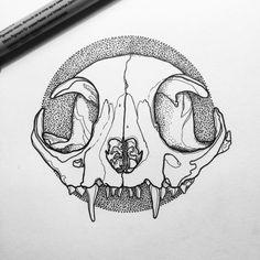 Cat skull #line #linework #design #designer #graphic #graphics #graphicdesign…
