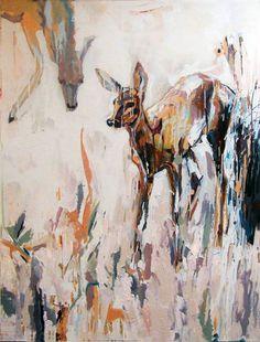 "Saatchi Art Artist Majid Eskandari; Painting, ""Deer Series -  # 3"" #art"