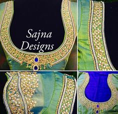 5 Beautiful Blouse designs from Sajna Designers.  | FashionWorldHub.com