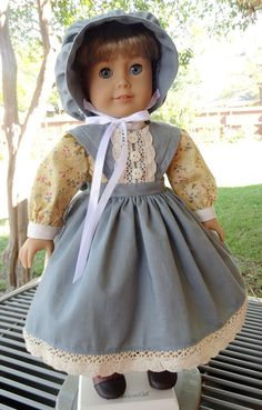 This outfit has been made to fit 18 dolls such as American Girl, Battat, Madame Alexander and more.    This prairie style outfit is perfect for