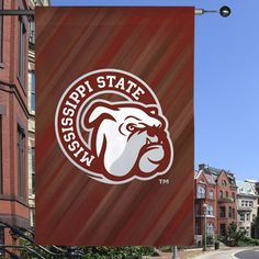 Mississippi State Bulldogs Double-Sided Suede Banner - Maroon/Gray