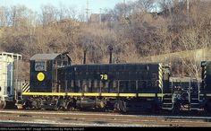 Gateway Western 79   Description:    Photo Date:  1/20/1995  Location:  Kansas City, MO   Author:  Marty Bernard  Categories:    Locomotives:  GWWR 79(SW1200)