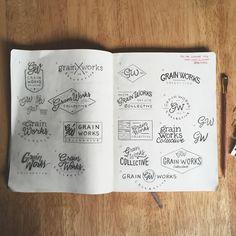 Loving this style of branding for @brianjamesjensen. . . . #moleskine #logo…