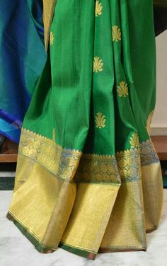 Cascade of Pleats! Banarasi Tussar Brocade Silk Saree