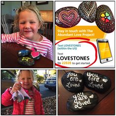 Made stones with the young girl I babysit and left them out for strangers to find at the perfect serendipitous time for them in NJ!! Read about The Abundant Love Project on Facebook-- its so amazing!! <3 (pictures posted of the young child to social media with the permission of her mother) https://www.facebook.com/abundantloveproject/